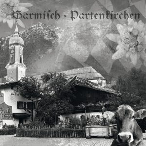 Garmisch-Partenkirchen, Sehenswürdigkeiten, Kuh, Fotocollage, Edelweiss